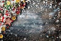 Qinunipoto クリスマス Merry Christmas 写真撮影用 背景布 背景 布 写真 摄影 撮影用 人物撮影 子供撮影 雪 板 背景シート 写真館 撮影スタジオ用 自宅用 パーティー ビニール製 3.5x2.5m