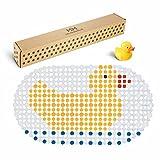 MILI&MARLIE ECO-Friendly Badewannenmatte und Duschmatte für Kinder und Babys rutschfest | GRATIS Mini Quietsche-Ente | 100% BPA-frei | hochwertige Antirutschmatte Badewanne
