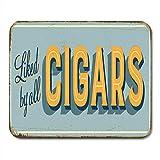 Mouse Mat,Vintage Metallschild Von Allen Zigarren Und Rostigen Weichen Bequemen Anti-Rutsch-Gaming-Mousepads Geliebt,30cmx25cm