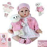 ZIYIUI Realista 22 Pulgadas 55 cm Reborn Baby Doll Vinilo de Silicona Suave Realista Reborn Baby Girl Hecho a Mano Chico Regalo de cumpleaños