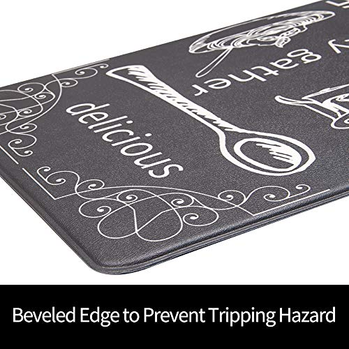 HEBE Anti Fatigue Kitchen Mat Set of 2 Non Slip Thick Cushioned Kitchen Rug Sets with Runner 17