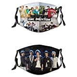 One Direction Men'S Women'S Face Protective Balaclava Mouth Cover With Windproof Dustproof Adjustable Elastic Strap 2pcs