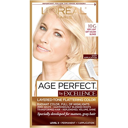 L'Oreal Paris ExcellenceAge Perfect Layered Tone Flattering Color, 10G...