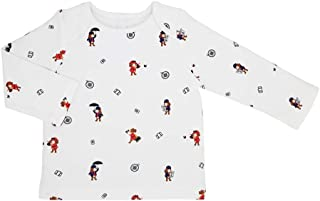 Baby T-Shirt Long Sleeved, 100% GOTS Organic Certified, 100% Supersoft Organic Cotton Unisex Shirt, Teddley's Travel Adven...