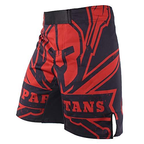 frikimanes Pantalones Cortos Shorts Modelo Spartans Ideales Crossfit, Kick Boxing, MMA, K-1, Fitness, Boxeo,