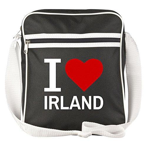 Schultertasche Classic I Love Irland schwarz - Lustig Witzig Sprüche Party Tasche
