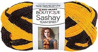 RED HEART Boutique Sashay Team Spirit Yarn, Gold/Black