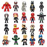Super Hero Action Sets Mini Superheroes Figures for Boys Avenger Marvel Ornaments Justice League Toys,Small Superhero Figure Birthday Party Favors Cake Cupcake Topper Supplies (20 pieces)