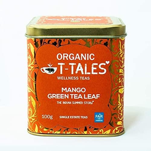 Organic T-Tales - BIO Grüner Tee 100g Metalldose, Geschmack: Mango - THE INDIAN SUMMER STORY
