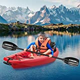 MaxKare Kids Kayak Youth Kayak with Foldable Back Rest, Cup Holders, Front & Rear Storage Hatches, Paddle, 6.1' Feet, 3 footrest Positions, Ages Years 5 and up,Weight Capacity of 121 lbs