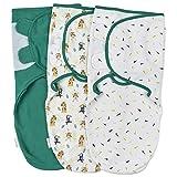 Gigoteuse d'Emmaillotage Couverture Bébé Naissance 1 Tog – Lot de 3 Couverture Emmaillotage Bebe Nid d'Ange Unisex – Langes 100% Coton - 4-6 Mois