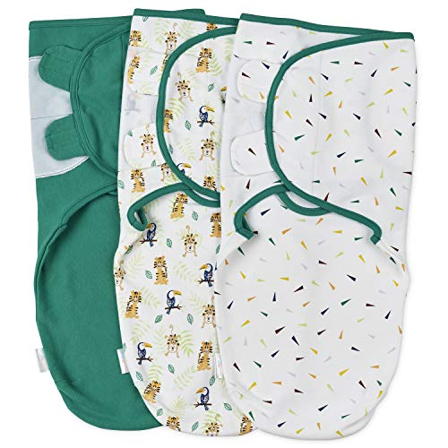 Baby Pucksack Wickel-Decke 220GSM / 1.0 TOG - 3er Pack Universal Verstellbare Schlafsack Decke für Säuglinge Babys Neugeborene 0-3 Monate