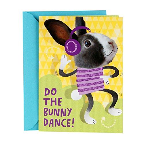Hallmark Pop-Up-Osterkarte für Kinder, tanzender Hase mit Blumen