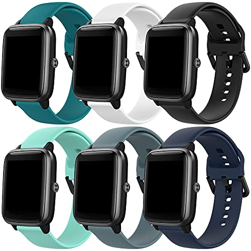 ECSEM 6-Pack Bands for Letsfit ID205L,ID205G,ID205S Smart Watch Women Men Replacement Band for Veryfitpro SW020,ID205L,ID205(6Pack)