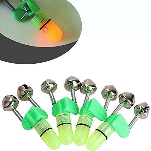 LED Licht Angeln Elektronische Bissanzeiger Fisch Sensor Glocken Rod TIPP Shake Angelgerät Zubehör