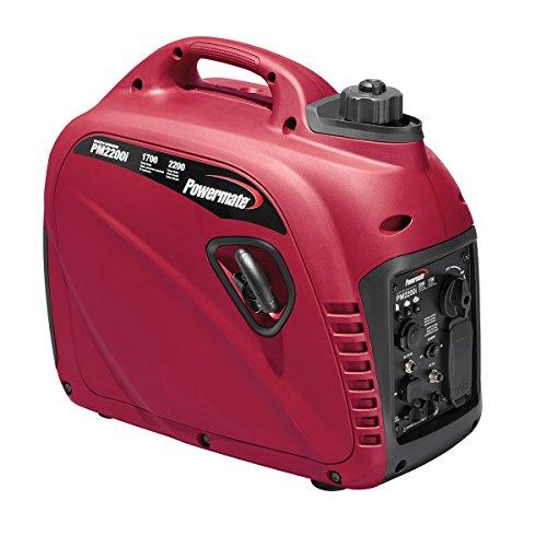 Powermate 10000001790 2200-Watt Ultra Quiet Inverter Generator, PM2200i, Powered by Generac