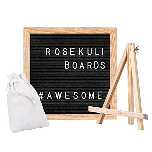 Rose Kuli Feutre Letter Board - Avec 352 Lettres et Chiffres, Support à Ciseaux et Sac