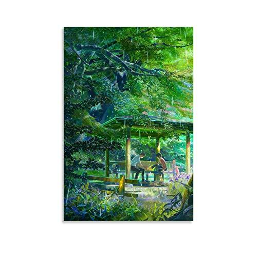 YRTZ Poster de film Anime The Garden of Words - Impression sur toile moderne pour bureau, chambre à coucher - 30 x 45 cm