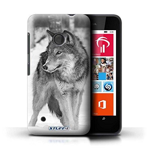 Hülle Für Nokia Lumia 530 Zoo-Tiere Wolf Design Transparent Ultra Dünn Klar Hart Schutz Handyhülle Hülle
