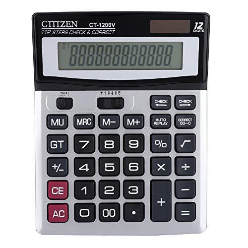 Bürorechner, Dual-Stromquelle - Batterie Solarenergie 12-stelliges Großbild-Display Professioneller Taschenrechner für Büro, multifunktionaler Finanzrechner (Nicht im Lieferumfang enthalten)
