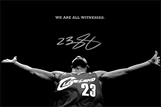 Lebron James Autograph Replica Super Print - We are All Witness - Cleveland Cavaliers - Landscape - Unframed