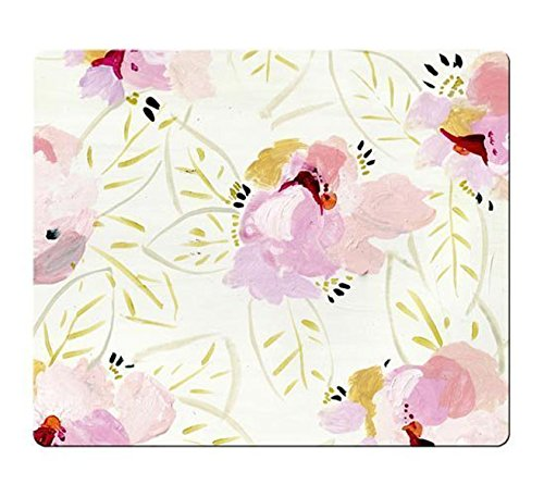 Floral Mouse Pad,UCMDA New Style 9in X 7.5in Neoprene Rubber Non-slip Personality Rectangle Desktop Mousepad Desings Gaming Mouse Pad Laptop Mousepads