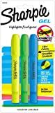 Sharpie 1803278 Accent Gel Highlighter, Assorted Colors, 3-Pack