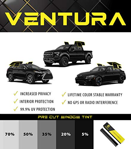 RPFILMS Rear Windows Pre Cut Window Tint DIY Customizable Kit - Ventura Films Car Auto Commercial Self Adhesive and Heat Resistant Film