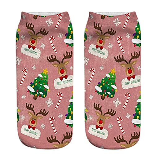 G1OO Weihnachtsmuster KompressionsstrüMpfe FüR Damen Und Herren Kompressionssocken StüTzstrüMpfe ThrombosestrüMpfe Socks Wattepad Sport Freizeit Socken Socken FüR Damen