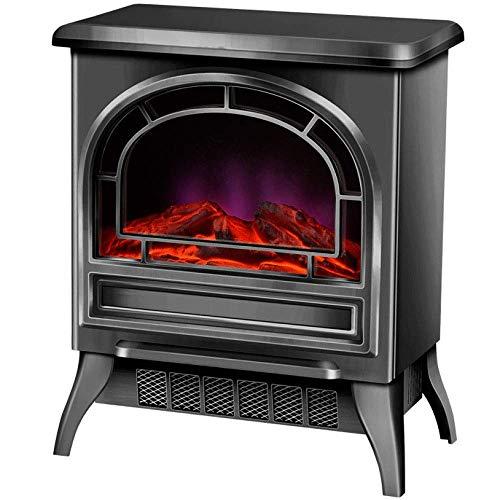 Calefactor Portátil las chimeneas eléctricas autoportante chimenea calentador de 900W 1800W autoportante chimenea eléctrica de la vendimia con la apertura de calefacción de la habitación puerta con 3D