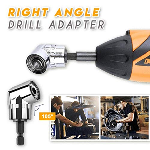 ByedogRight Angle Drill Adapter 105 Degree Turn Screw Jointer Drill Accessories