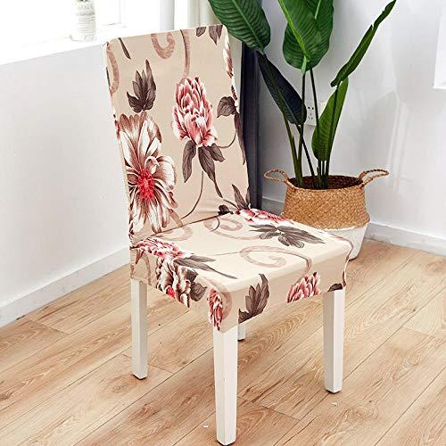 LJJFZP Fundas de silla de comedor 6 piezas modernas cubiertas de protección, montaje retráctil universal es simple y duradero extraíble lavable silla cubre hermosa flor