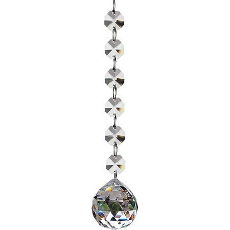 Fushing 2本 幸運サンキャッチャーペンダント クリアクリスタルガラスボール 入り口/窓/玄関/車内飾り 風水物  (30mm)