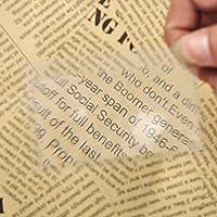 MYERZI 読書のための1PCミニクレジットカードサイズの拡大鏡読書拡大鏡レンズポータブル透明な85の* 55ミリメートルの拡大鏡 新聞/雑誌/地図