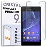 REY Protector de Pantalla para Sony Xperia M2 Cristal Vidrio Templado Premium