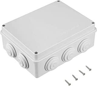 "Awclub ABS Plastic Dustproof Waterproof IP65 Junction Box Universal Electrical Project Enclosure White 7.9""x6.1""x3.1""(200mmx155mmx80mm)"