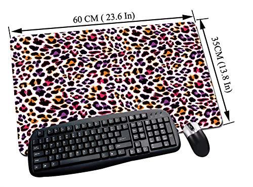Alfombrilla Raton Gaming,Africano, motivo de piel de leopardo con patrón abstracto de camuflaje de animales de Sa,Impermeable con base de goma antideslizante, PC y laptop comfortable mouse pad60x35 cm