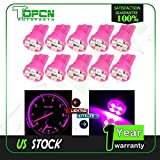 topcn-autoparts 10x - T10 W5W 194 168 4SMD Side Wedge Car Interior Map LED Light Lamps - Pink/Purple