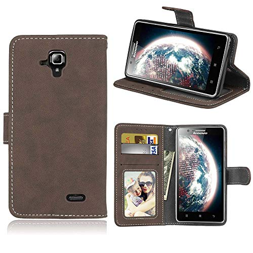 YYhin Premium leather case for Lenovo A536/Lenovo A358T Case, Business wallet leather Case Stand case Flip Case Back Cover with TPU Inner Shell. KS01/Brown