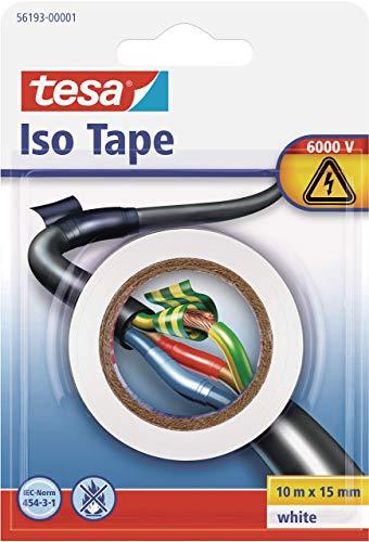 tesa Isolierband, Weiß, 10m x 15mm