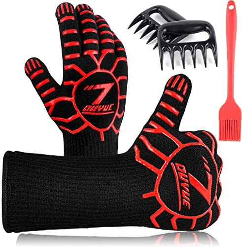 3 in 1 BBQ Gloves Heat Resistant Grill Glove 1472 F s Oven Gloves Kitchen Cooking Oven Mitts product image