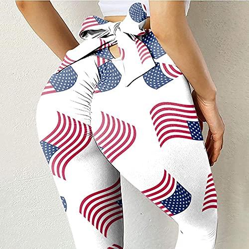 ArcherWlh Leggings Mujer,2021 Imprimir Arruga Mariposa Melocotón Impresión de corazón Pantalones de Fitness de Yoga-6_XXL