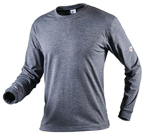 BP 2420 871 Langarmshirt für Sie & Ihn 63% Viskose, 35% Aramid, 2% Elasthan blaugrau, Größe XXL