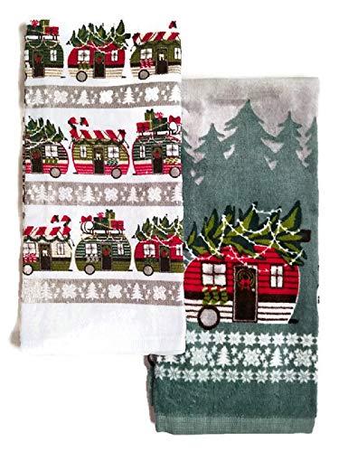 Christmas RV Trailer Kitchen Dish Towels Decor