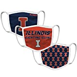 Illinois Fighting Illini Retro Face Covering 3-Pack - Blue