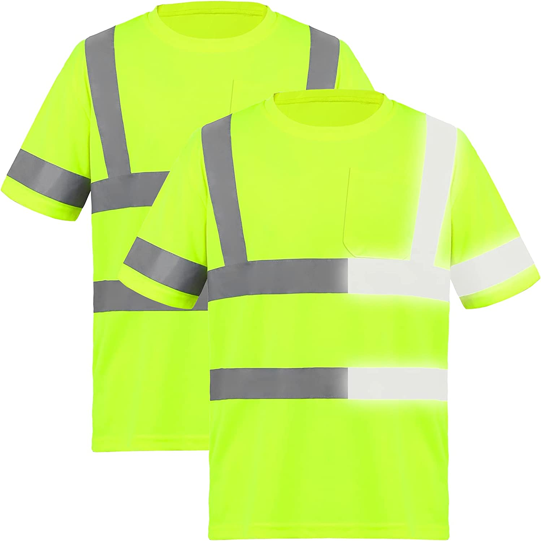 URATOT 2 Pieces Reflective Safety Shirts Vis T Vi Hi Max 64% OFF trust High