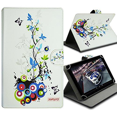 Karylax Schutzhülle Universal M mit Klappdeckel & Standfunktion, Motiv HF01 für Tablet HP Pro Tablet 608 G1 8 Zoll