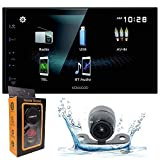 Kenwood 6.8' Digital Multimedia Receiver with Bluetooth, Rear View Camera Input, 13 Band EQ, USB Mirroring for Android + Backup Camera Included + Gravity Magnet Phone Holder