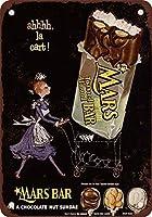 Shimaier 壁の装飾 ブリキ 看板メタルサイン 1955 Mars Chocolate ウォールアート バー カフェ 30×40cm ヴィンテージ風 メタルプレート