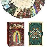 Cartas del Tarot Cubierta, 78 Hojas de la Santa Muerte Tarot, Juego de Mesa Cartas del Tarot Tarot Mini Tarjetas Cubierta, Cartas de Tarot Libro Y para Principiantes Set (Inglés Edition)